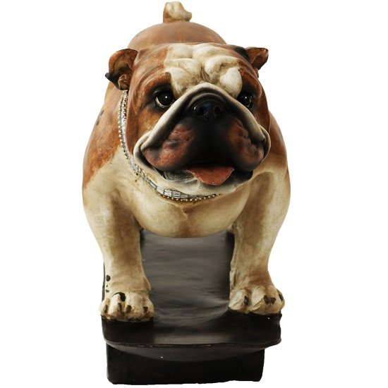 Bulldog On A Skateboard Sculpture