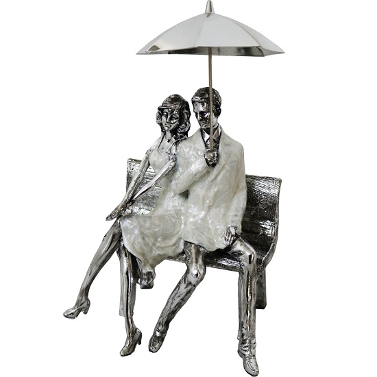 Man And Woman With Umbrella Sculpture_1