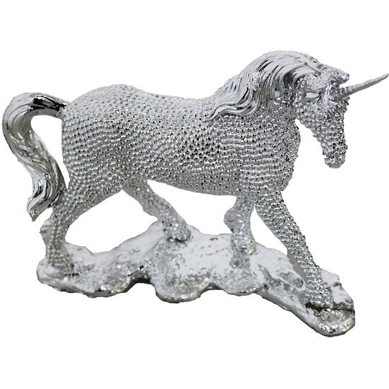 Electroplated Standing Unicorn Sculpture_1