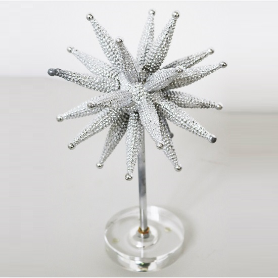 Atom Deco Sculpture In Silver Finish