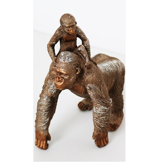 Great Ape Adult And Child Standing Sculpture_1