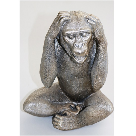Wise Monkey - Hear No Evil Sculpture_1