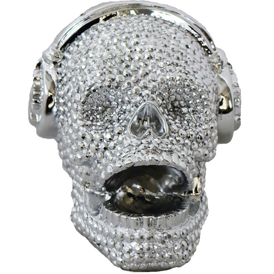 Skull With Headset Sculpture_1