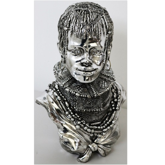 Tribal Lady Bust Sculpture