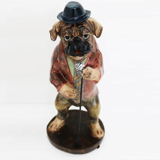 Singing Dog Sculpture