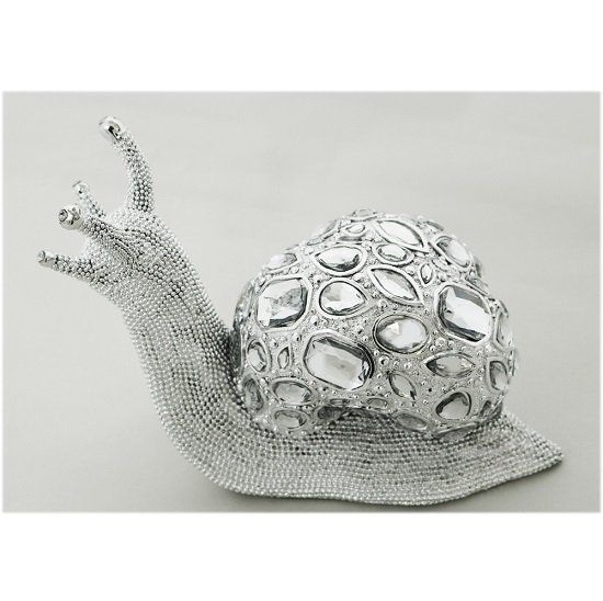 Snail Sculpture In Silver Finish
