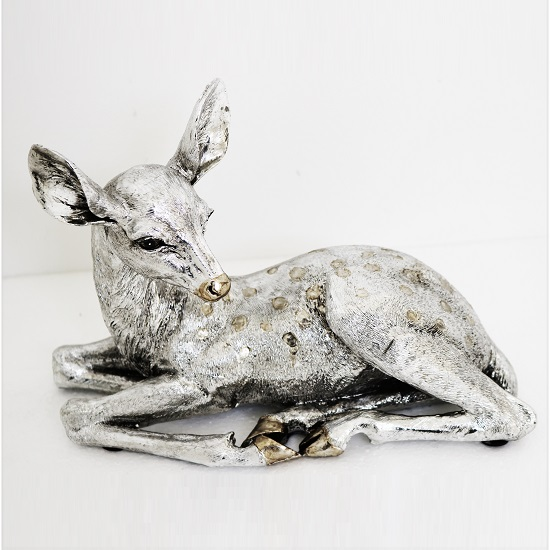 Deer Sitting Sculpture