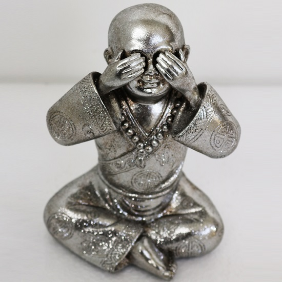 See No Evil - Monk Small Size Sculpture