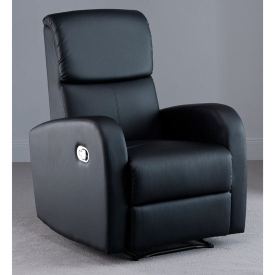 Picasso Black Faux Leather Recliner Chair