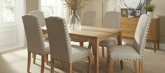 Madeline Dining Chair In Pearl Fabric And Oak Legs in A Pair_9