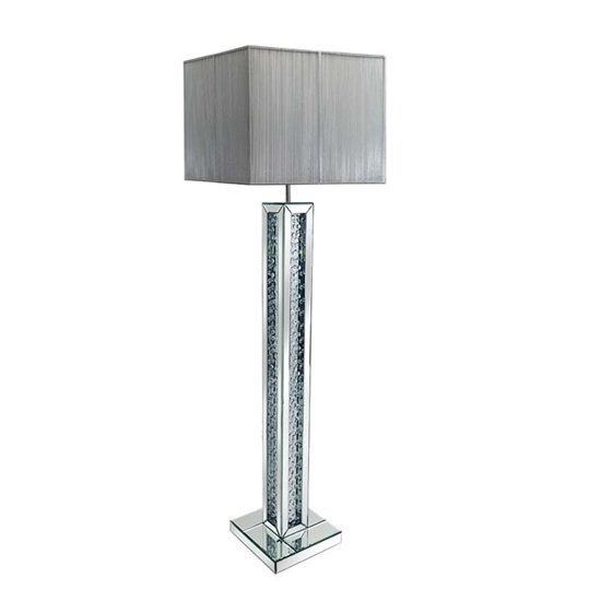 Floor Lamp With Silver Base Rosalie Floor Lamp In Silver Shade With Mirrored Base 26999