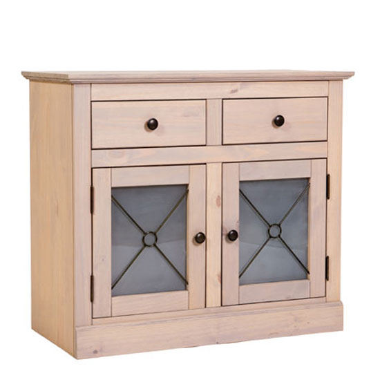 Peninsula Sand Wash Finish Sideboard With 2 Door And 2 Drawer