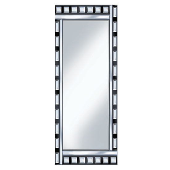 Black And Clear Design 120x40 Narrow Mirror