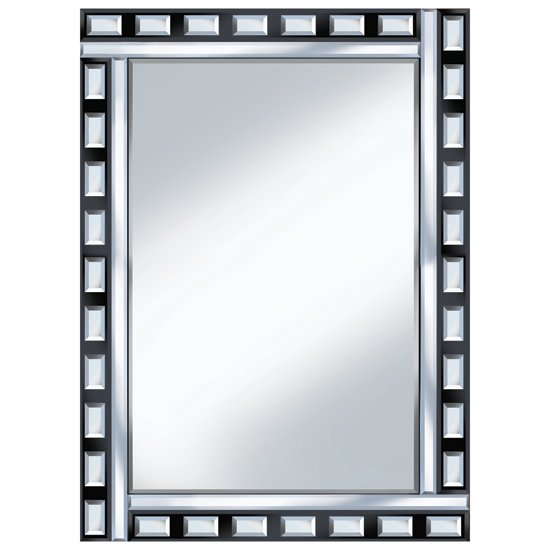 Black clear design 60x80 rectangle mirror po939 15155 for Mirror 60 x 80