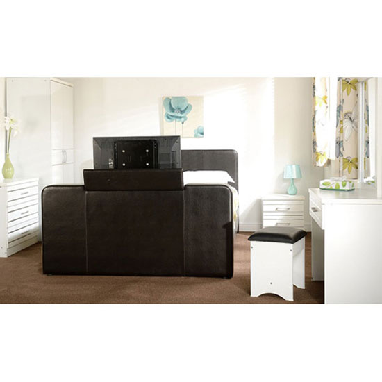 Preston Double TV Bed in Expresso Brown