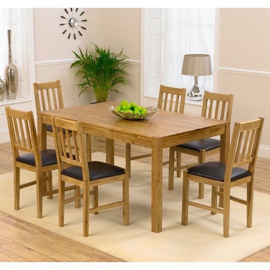 Promo Solid Oak Dining Table And 6 Promo Chairs