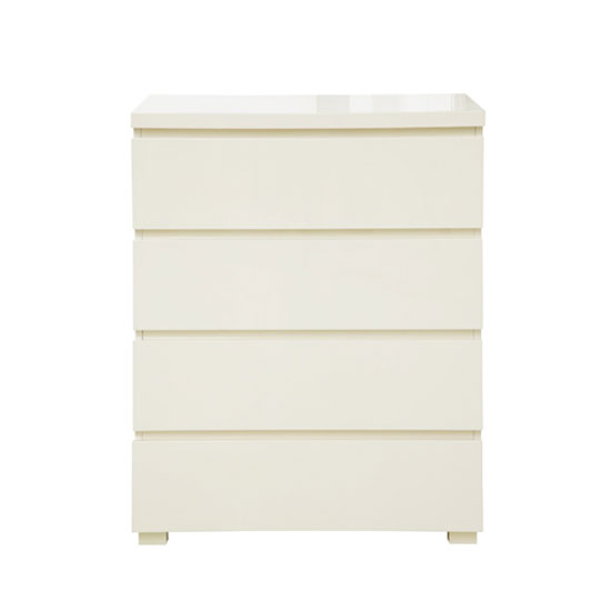 Curio Cream High Gloss Finish 4 Drawer Chest