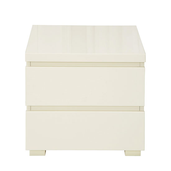 Read more about Curio cream high gloss finish 2 drawer bedside cabinet