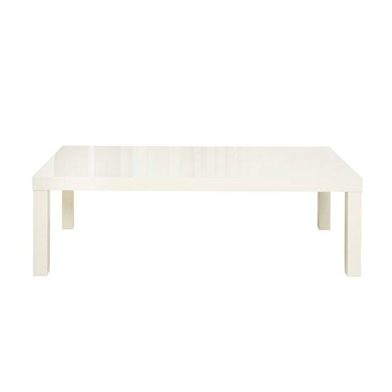 Toscana White High Gloss Coffee Table: Galaxy Oval White Gloss Coffee Table 19222 Furniture IN Fash