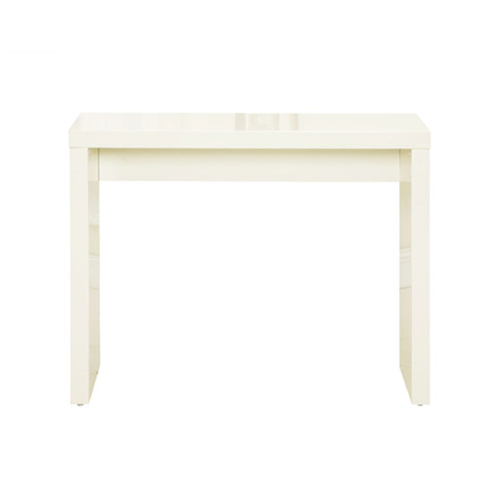 Curio Cream High Gloss Finish Console Table