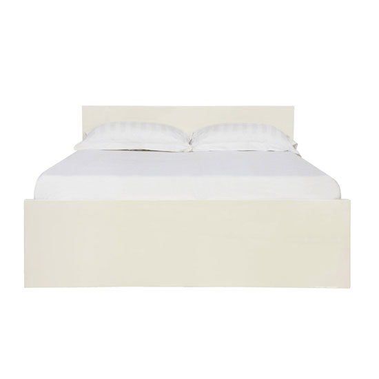 Curio Cream High Gloss Finish King Size Bed