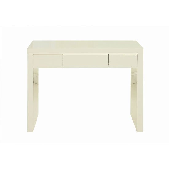 Curio cream high gloss finish dressing table with 1 drawer for Wide dressing table