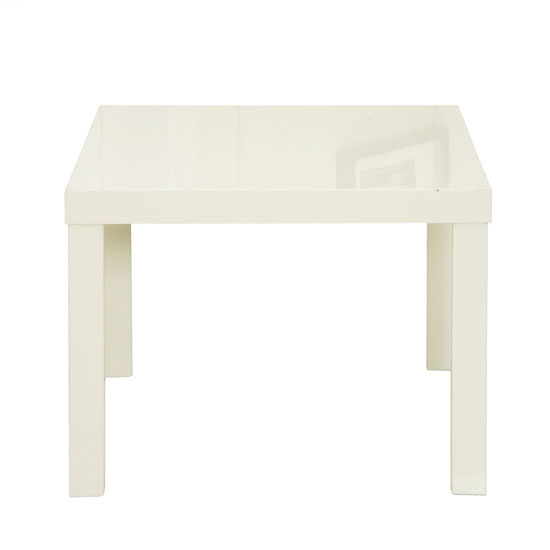 Curio Cream High Gloss Finish Lamp Table