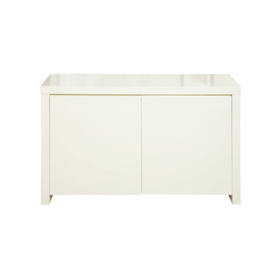 Curio Cream High Gloss Finish 2 Door Sideboard