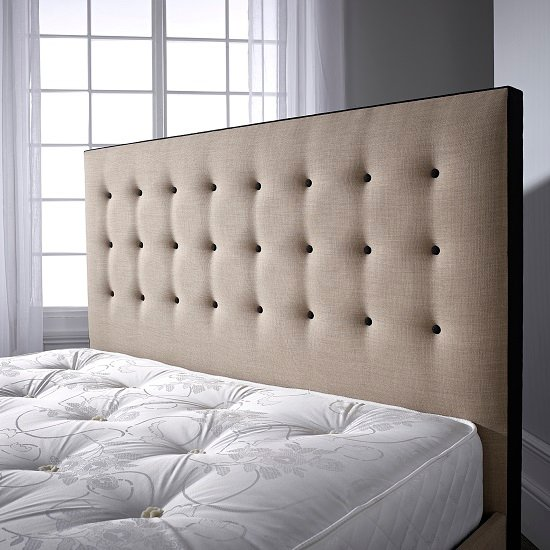 Paulina Bed In Linoso Sand With Dark Wooden Feet_3