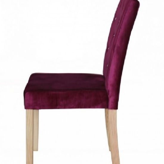 Kilcon Dining Chair In Purple Velvet And Diamante in A Pair_3