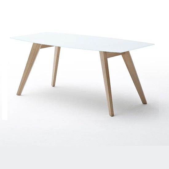 Corby Glass Dining Table In White Gloss With Beech Legs_2