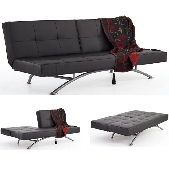 Pavia Black sofa bed1 - Foldable Furniture & 10 Of The Best Ways To Save Space
