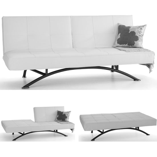 Pavia white sofa bed - Completely Comfortable Interior Design Ideas for Mobile Homes