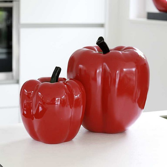 Read more about Pepper large sculpture in poly red and black base