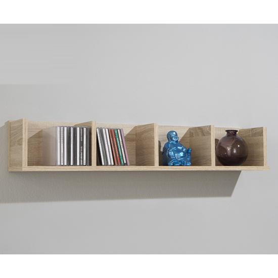 point4 wall mounted display shelves in canadian oak buy modern home office shelving furniture. Black Bedroom Furniture Sets. Home Design Ideas