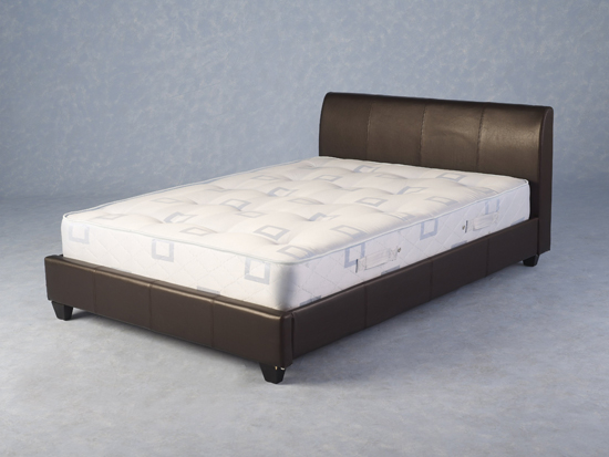 Furniture in fashion primera modern 4ft 6 expresso brown bed for Furniture in fashion