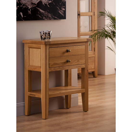 Provence Console Table In Oak With 1 Drawer