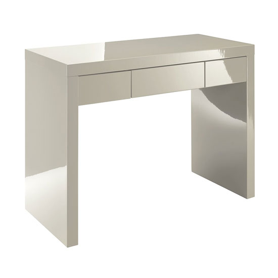 Read more about Curio stone high gloss finish dressing table with 1 drawer