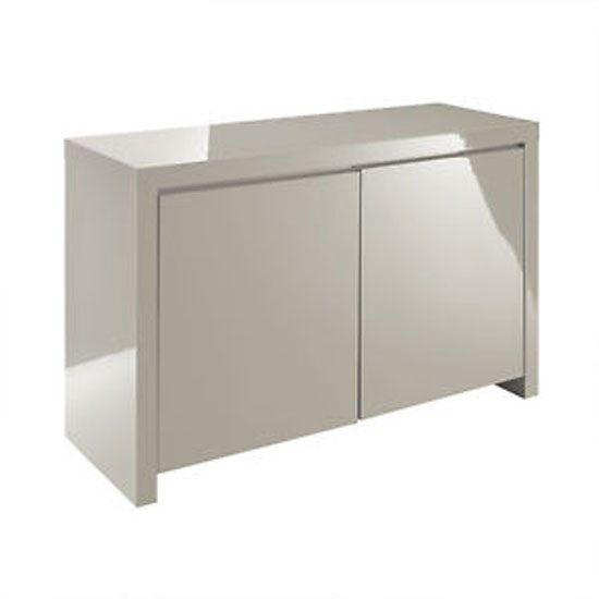 Curio Stone High Gloss Finish 2 Door Sideboard