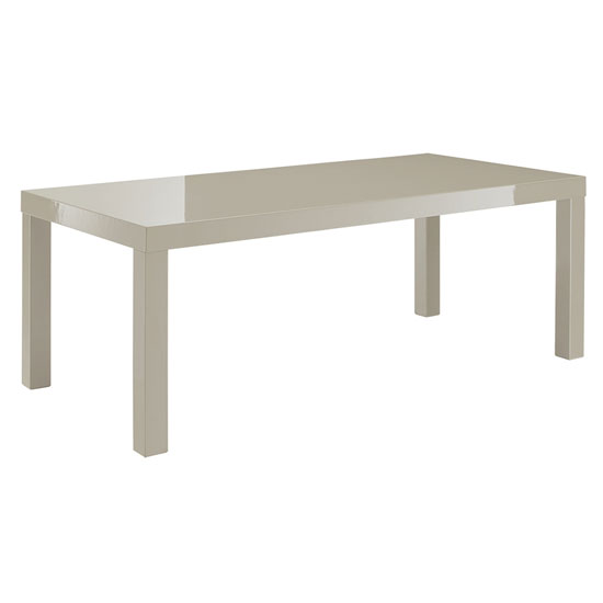 Curio Cream High Gloss Finish Coffee Table 22743 Furniture I