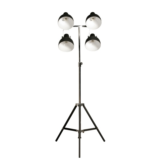 Read more about Quatrain floor lamp in sand black and chrome finish