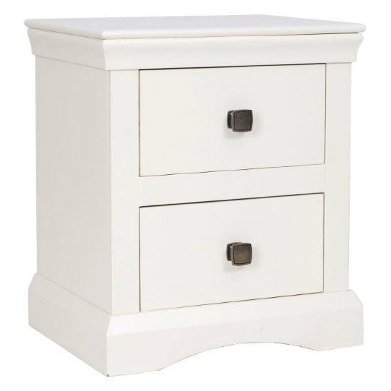 Quebec 2 Drawer Bedside Cabinet In Cream