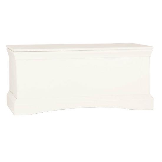 Quebec ottoman storage box in cream 14132 furniture in for White ottoman storage box