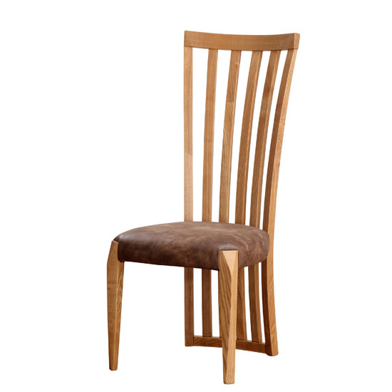 Queen Dining Chair In Fabric And Ash Wood In Oak Matt 25139 : QuestDC Exc from www.furnitureinfashion.net size 550 x 550 jpeg 27kB