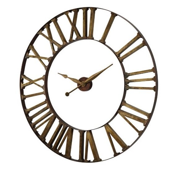 Kaison Clock In Antique Golden Champagne Finish_3