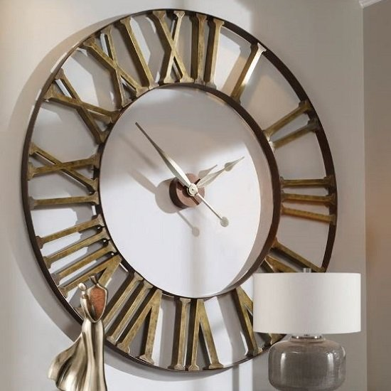 Kaison Clock In Antique Golden Champagne Finish_1