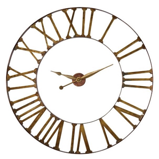 Kaison Clock In Antique Golden Champagne Finish_4