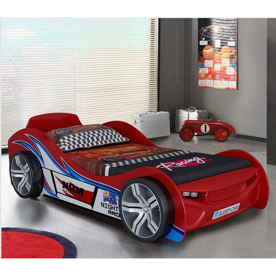 Fisher Racing Car Children Bed In Red High Gloss Lacquer