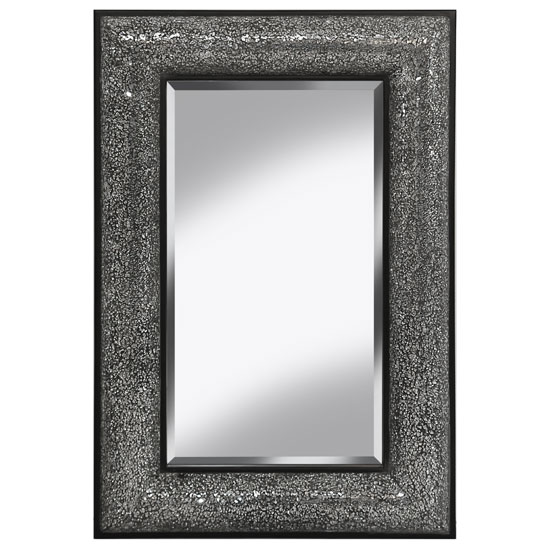 Photo of Zofia decorative wall mirror rectangular in black silver