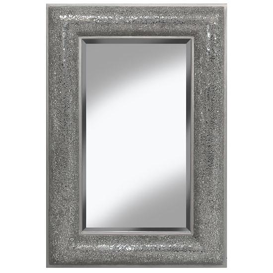 Zofia Decorative Wall Mirror Rectangular In Silver